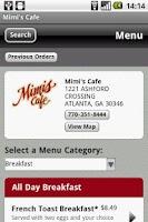 Screenshot of Mimi's Cafe