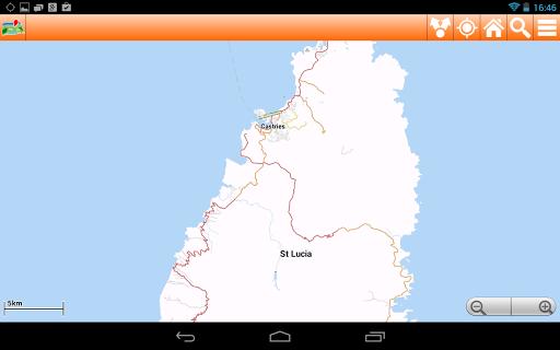 【免費旅遊App】Saint Lucia Offline mappa Map-APP點子