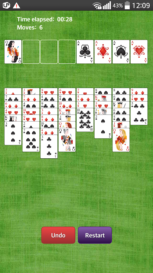 how to play freecell with real cards