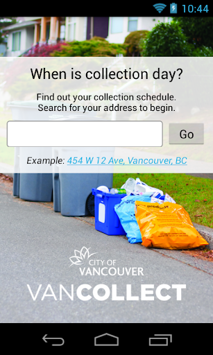 Vancouver Collection Schedule