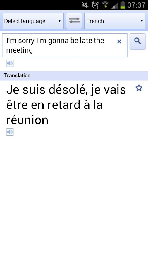 Speak / Translate - screenshot