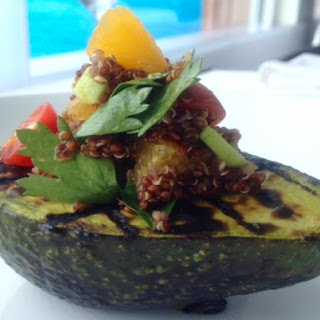 Grilled Avocado with Quinoa Salad