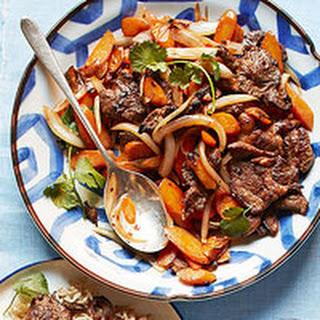 Spicy Lamb & Carrot Stir-Fry.