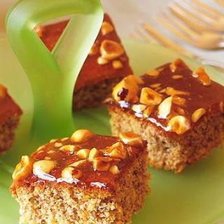 Glazed Hazelnut Squares Recipe
