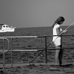 preparings by Renato Dibelčar - People Portraits of Women ( izola, 2014, sea, sport, travel, sommer, boat, people, meer, woman, slovenia, summer, fishing )