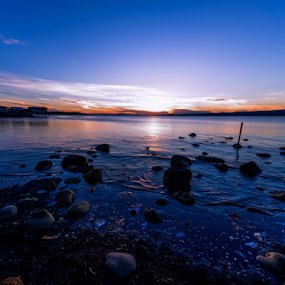 There is Sunshine by Mert Docdor - Landscapes Waterscapes ( northern catadman, lowlight, misamis occidental, nature, catadman, ozamiz, sunrise, nikon, landscape, frozenblizzard, philippines, ozamiz city )