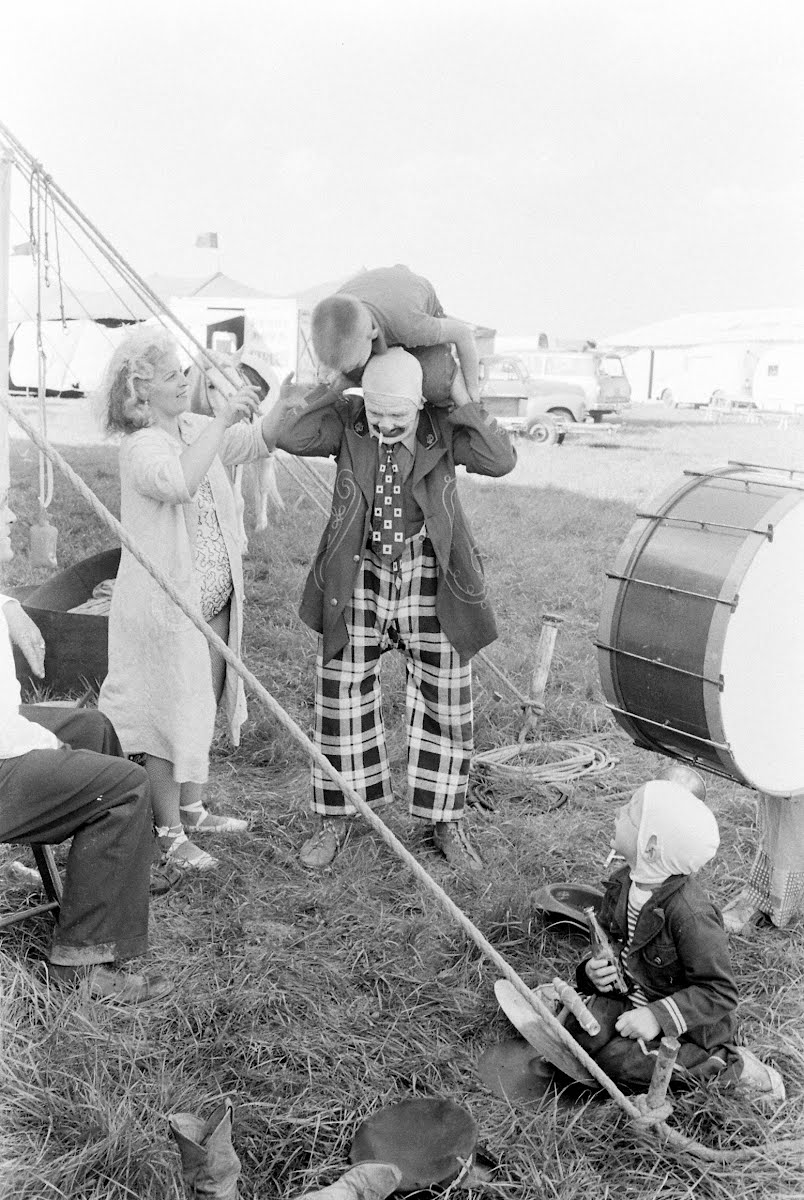 Dr. Charles Boas, Alleged Clown With Penny Brothers Circus, Now Performing In Indiana Small Town