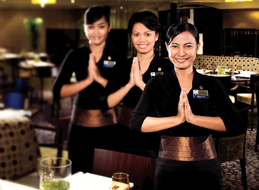 Holland-America-Signature-Class-Tamarind-1 - Head to Tamarind about Holland America's Nieuw Amsterdam for food evoking the rich culinary traditions of Southeast Asian, China and Japan, served by attentive crew members.