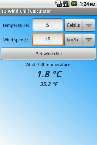 IQ Wind Chill Calculator