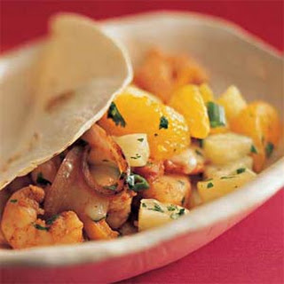 Soft Shrimp Tacos with Tropical Salsa
