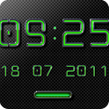 NEON GREEN Digi Clock Widget icon