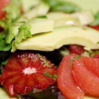 Avocado Grapefruit Salad with Citrus Mint Dressing
