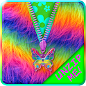Rainbow Fur Zipper Lock Screen icon