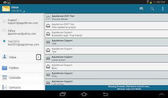 Screenshot of MobiMail for Outlook Email