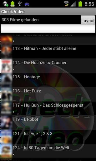 Check Video für DVD Profiler