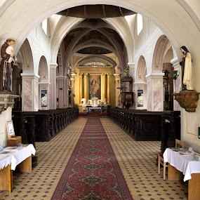 katolicky kostol by Ján Hrmo - Buildings & Architecture Places of Worship ( interier, sv.sochy, oltar, lavice, kostol )