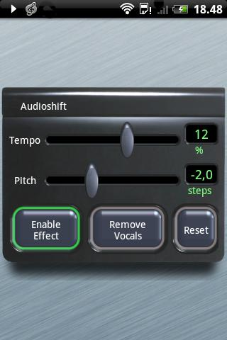 Audioshift Tempo+Pitch Free - screenshot