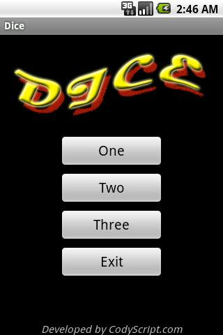 Fun Dice Game - screenshot