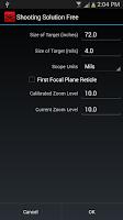 Screenshot of Shooting Solution Free