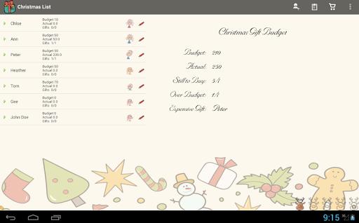 Christmas List Snowball
