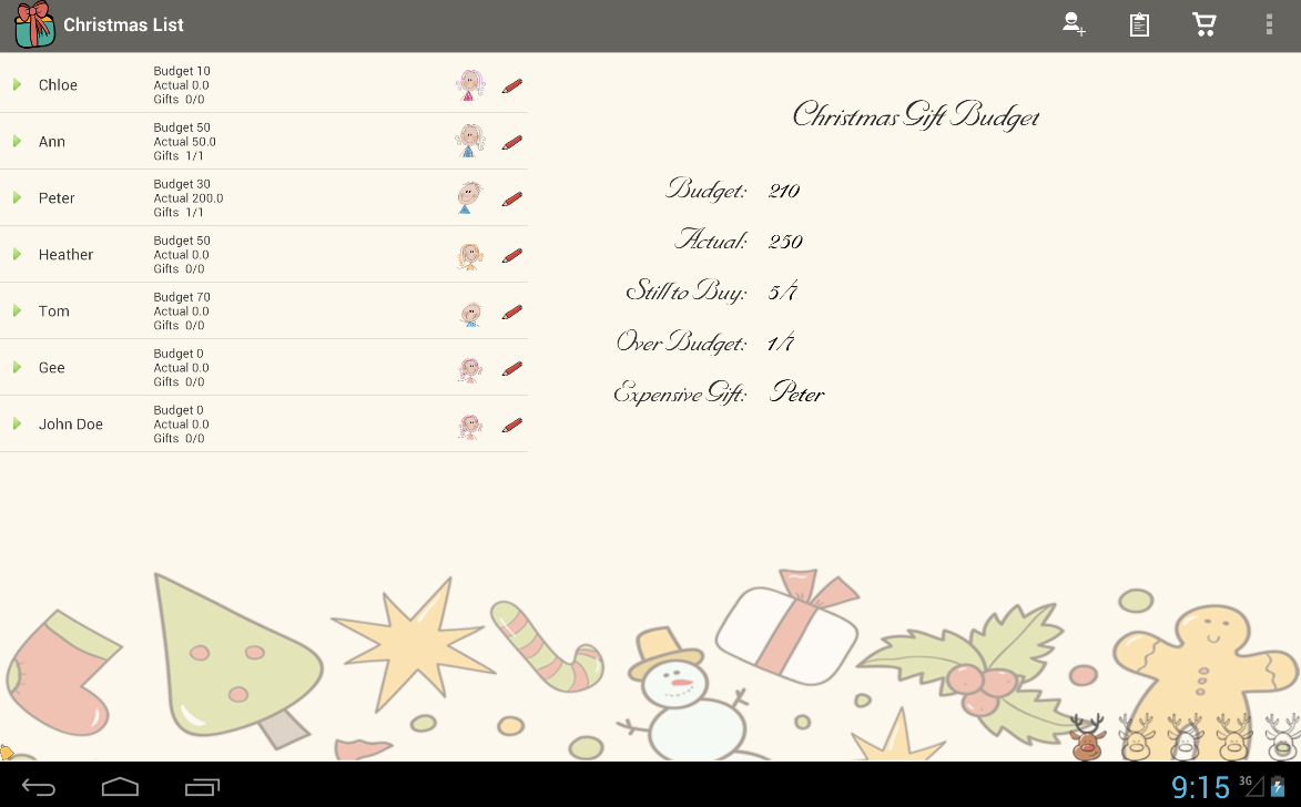 Christmas List Snowball - screenshot