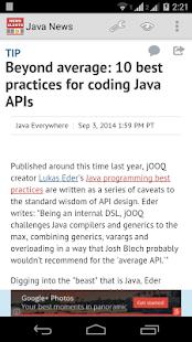 Java News - náhled