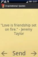 Screenshot of Inspirational Quotes