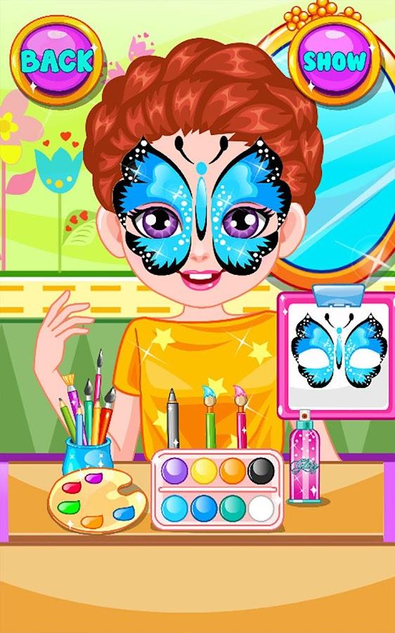 kids face painting screenshot