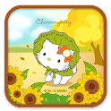 Charmmy Kitty Sunflowers