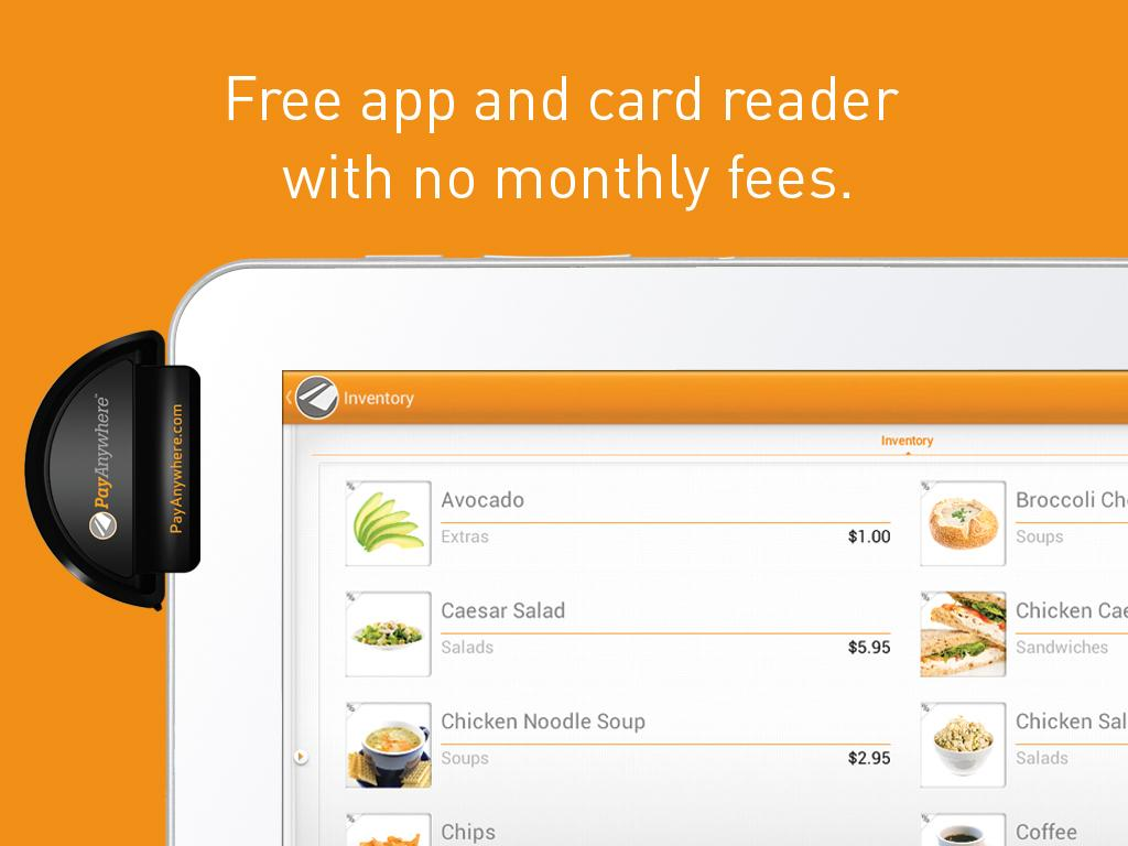 PayAnywhere Credit Card Reader - screenshot
