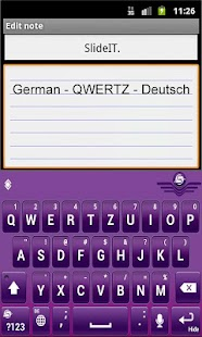 SlideIT German QWERTZ Pack - screenshot thumbnail