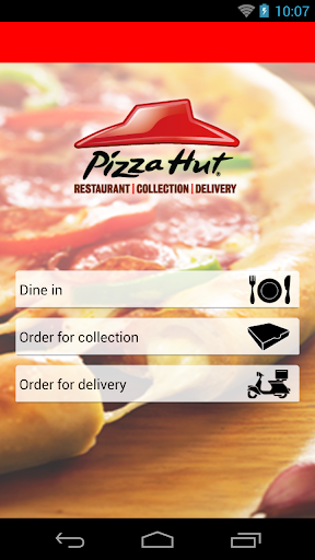 Pizza Hut UK Ordering App