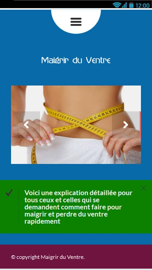 Comment Maigrir du Ventre - Android Apps on Google Play