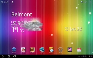 Screenshot of Spectrum ICS Live Wallpaper