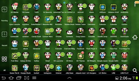Cute Panda GO Launcher Theme