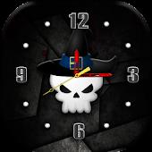 Funny Skull Clock