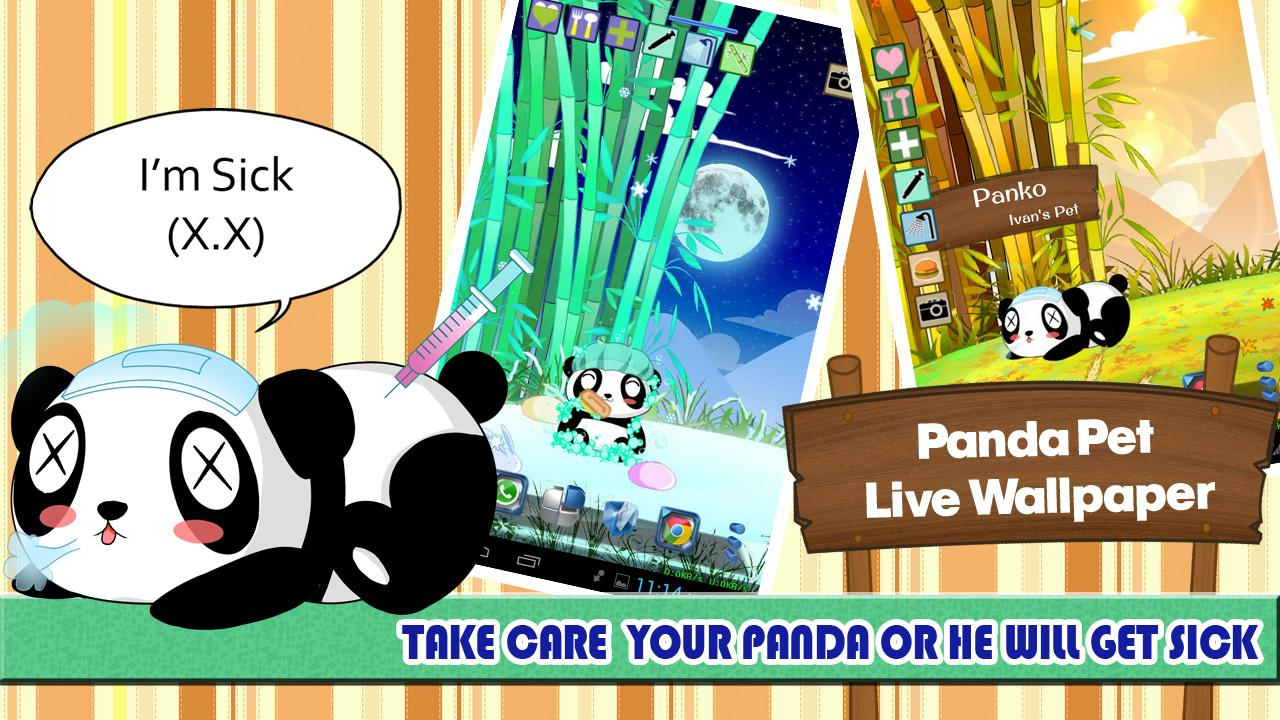 Panda Pet Live Wallpaper - screenshot