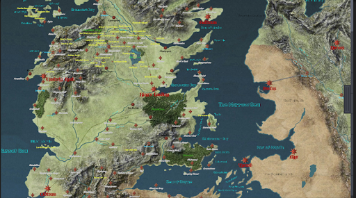 Game of Thrones InteractiveMap