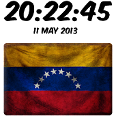 Venezuela Digital Clock