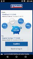 Screenshot of Nationwide Mobile Banking