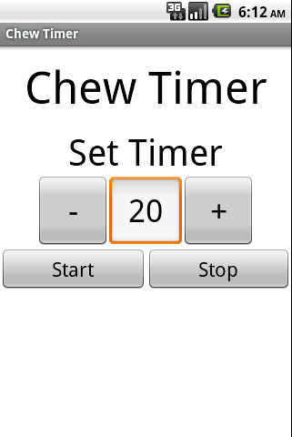 Chew Timer