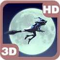 Funny Witch Moon Sky Flight 3D icon
