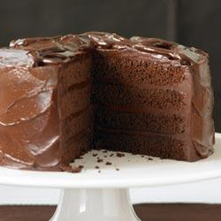 Devils Food Cake with Sinful Chocolate Frosting.