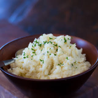 "Cauliflower Mashed ""Potatoes""."