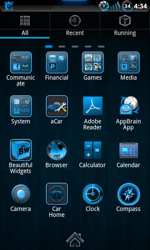 Steel Blue Theme for CM7 - screenshot