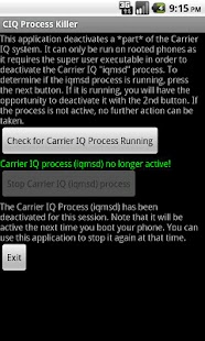 Carrier IQ Process Killer - screenshot thumbnail