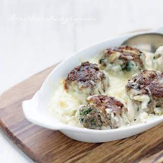 Spinach & Artichoke Dip Meatballs – Low Carb & Gluten Free.