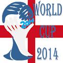 World cup 2014 England Brazil icon