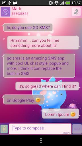 GO SMS Dino Theme