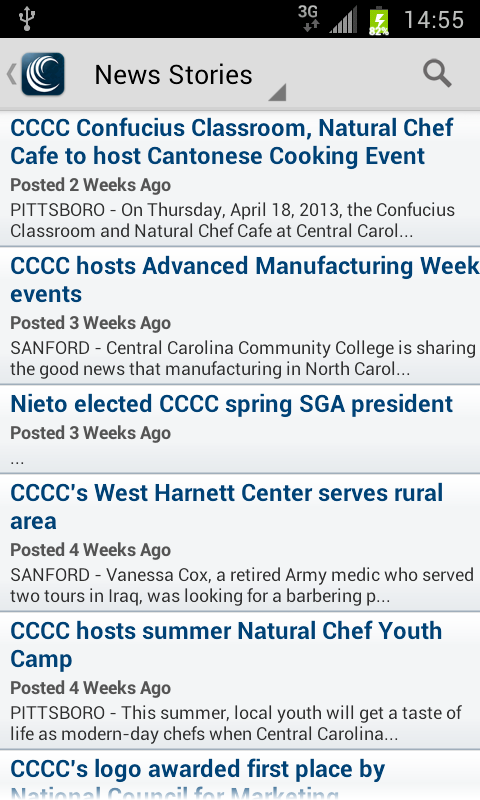 CCCC Mobile- screenshot